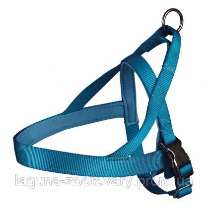 """Шлея для собак  норвежская """"Экспириенс"""" (нейлон) 68–88см/30мм, синий, фото 2"""