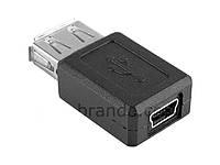 Переходник гнездо USB A- гнездо micro USB