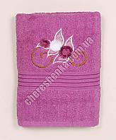 Махровое банное полотенце 108M70 Банное, Венгрия, Сиреневый