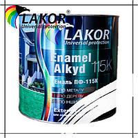 Эмаль алкидная ПФ-115-К Lakor белая 0.9 кг, 2.8 кг, 20 л, 50 л (55 кг)
