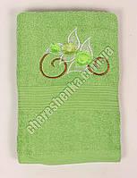 Махровое банное полотенце 108M70 Банное, Венгрия, Зеленый