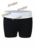 Короткие шорты в обтяжку женские черные