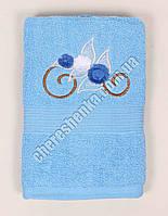 Махровое банное полотенце 108M70 Банное, Венгрия, Голубой