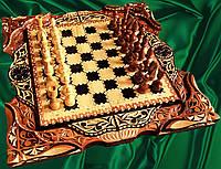 Шахматы-нарды эксклюзивные резные