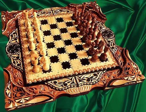 Шахматы-нарды эксклюзивные резные, фото 2