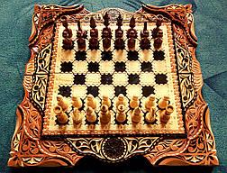 Шахматы-нарды эксклюзивные резные, фото 3