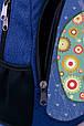 """Подростковый рюкзак """" РАДУЖНЫЙ СЛОНИК"""" (синий), фото 4"""