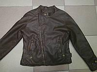 Курточка демисезонная на девочку Zara из кожзама