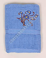 Махровое банное полотенце 1082M70 Синий