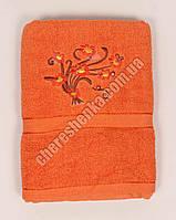 Махровое банное полотенце 1082M70 Оранжевый