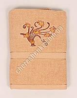 Махровое банное полотенце 1082M70 Кофе с молоком
