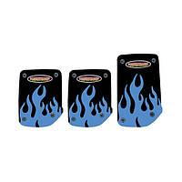 Накладки на педали (черные с синим рисунком огонь (газ-тормоз-сцепление)