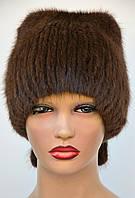 """Женская меховая шапка из ондатры """"Шарик-хвостик"""", фото 1"""