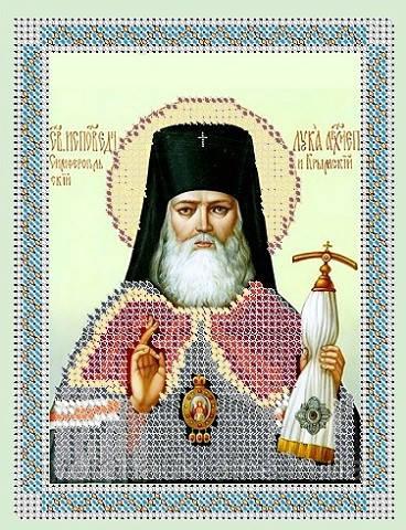 Схема для вышивки бисером  Св. Лука