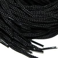 Шнурок 5 мм круглый черный 120 см