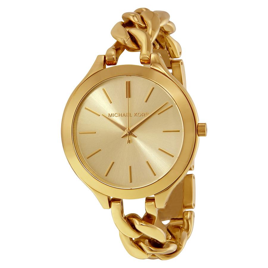 Часы Michael Kors Slim Runway Gold-tone Chain-Link MK3222