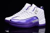 Женские баскетбольные кроссовки Air Jordan Retro 12 (Purple/White), фото 1