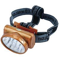 Налобный фонарь LED YJ 1898 аккумуляторный