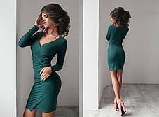 Т1082 Платье ассиметрия замш  в расцветках, фото 3