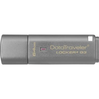 USB флеш накопитель Kingston 64Gb DataTraveler Locker+ G3 USB 3.0 (DTLPG3/64GB)