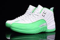 Женские баскетбольные кроссовки Air Jordan Retro 12 (Mint/White), фото 1