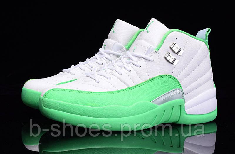 Женские баскетбольные кроссовки Air Jordan Retro 12 (Mint/White)