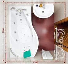 Акриловая ванна ТРИТОН МИШЕЛЬ 1700х960х600 (Правая), фото 3