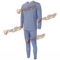 Мужская термобелье бархатных утолщением 37 градусов термостатические белье костюмы