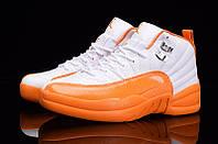 Женские баскетбольные кроссовки Air Jordan Retro 12 (Orange/White), фото 1