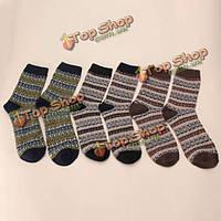 Зимняя воля теплый толстый шерстяной кашемир смеси носков повседневные носки