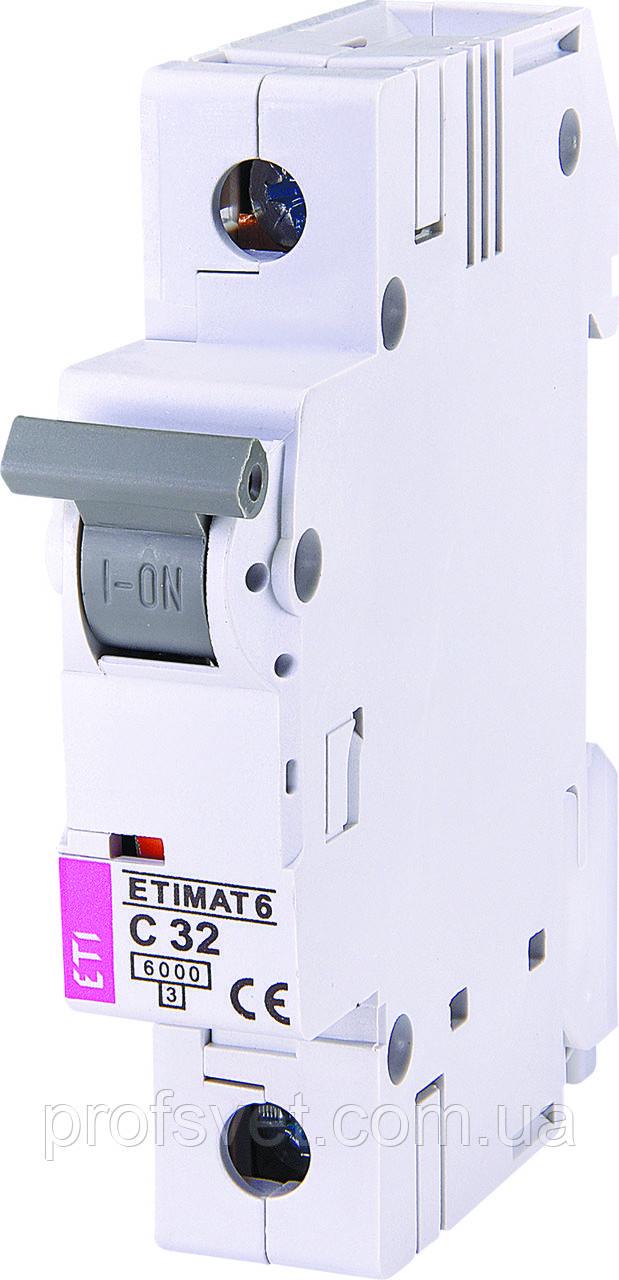 Автомат выключатель однополюсный ETI 32A С