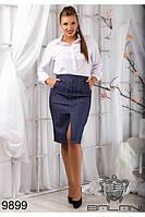 Стильная юбка женская джинсовая 48-54, доставка по Украине