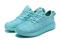 Женские кроссовки Adidas Yeezy boost 350 (Mint Green)  , фото 1
