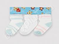 Носочки махровые. 3 шт. в упаковке. Цвета в ассортименте (8-10 см.)
