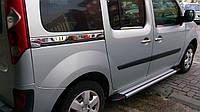Renault Kangoo 2008+ и 2013+ гг. Молдинг под сдвижную дверь (2 шт, нерж.)