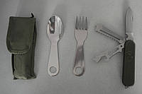 Набор туриста 4 в 1, в чехле (нож, вилка, ложка)