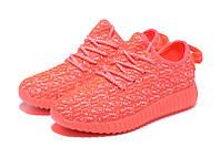 Женские кроссовки Adidas Yeezy boost 350 (Orange Pink)  , фото 1