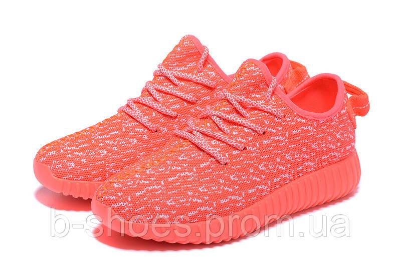 Женские кроссовки Adidas Yeezy boost 350 (Orange Pink)