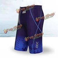 Мужской летний пляж сексуальный низкой талией боксер стволы способа печати длинные шорты спа-бассейны