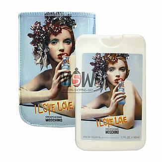 (50ml) Moschino - I Love Love Woman (компактная парфюмерия в чехле), фото 2