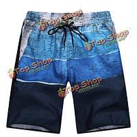 Летний отдых отпуск вскользь сплайсинга пляжные шорты плюс размер s-4XL мужчины пятый брюки