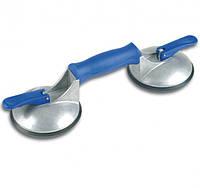 Двойная присоска Veribor® blue line с продольной ручкой