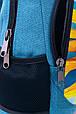 """Подростковый рюкзак """" СОЛНЦЕ УКРАИНЫ"""" (бирюза), фото 4"""