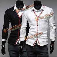 Воля случайный хлопковый длинный рукав v-воротника тела вязания покрывает продажу свитера