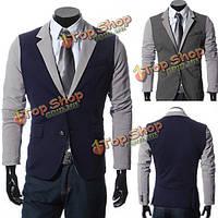 Костюмы мужские случайные тонкий подходят шить две кнопки деловые костюмы