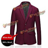 Осень-зима бизнес вскользь тонкие подогнанные теплые костюмы мужские моды шерсти пальто костюм