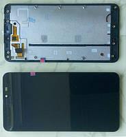 Microsoft (Nokia) Lumia 640 XL дисплей в зборі з тачскріном з рамкою модуль чорний