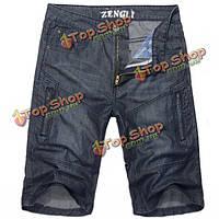 Джинсовые мужские шорты до колена