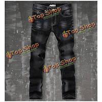 Брюки джинсовые мужские с потертостями