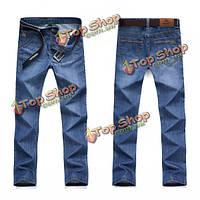 Летние прямы джинсы для мужчин